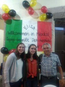Anna, Padre Miguel und ich.