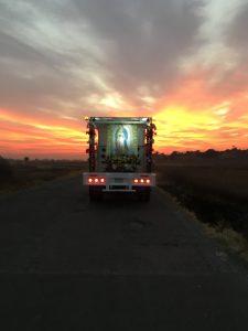 Das Bild der Jungfrau von Guadalupe.