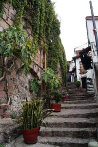 Aufgang in Taxco
