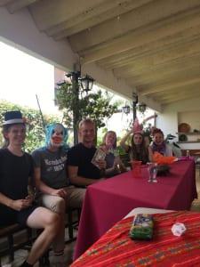 letztes Mittagessen mit allen Gastfamilien