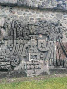 Wand eines Tempels